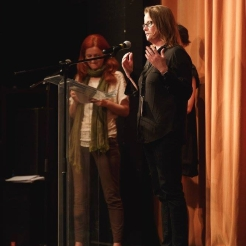 Speaking at Pelicam Film Festival in Romania